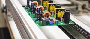 power PCB assemblies on a production line