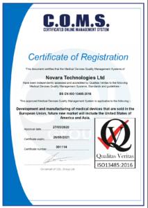 Novara_ISO13485 Certificate 2020 2021