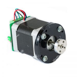 Bespoke brushless dc motor with modifications for mounting and shaft