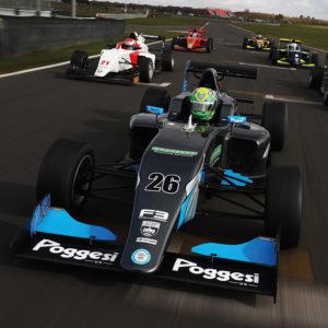 Several Single Seat Motor Racing cars